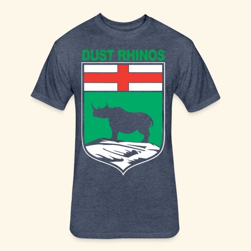 Manitoba Rhino - Fitted Cotton/Poly T-Shirt by Next Level