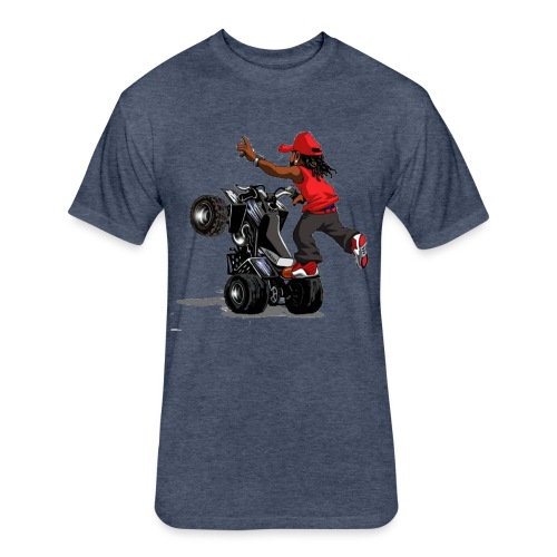 yamaha banshee stunt - Fitted Cotton/Poly T-Shirt by Next Level