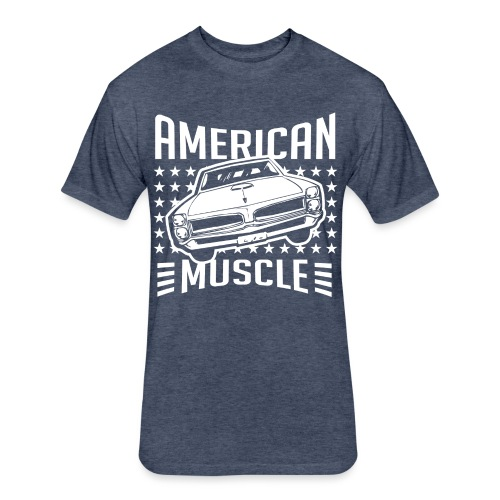 Pontiac GTO American Muscle - Fitted Cotton/Poly T-Shirt by Next Level
