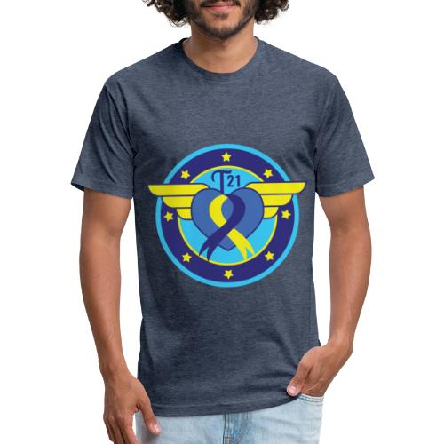 Down syndrome Hero - Fitted Cotton/Poly T-Shirt by Next Level
