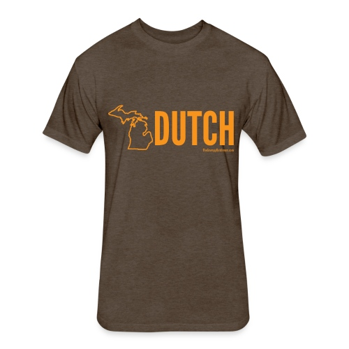 Michigan Dutch (orange) - Fitted Cotton/Poly T-Shirt by Next Level