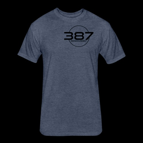 387 Entertainment Black - Fitted Cotton/Poly T-Shirt by Next Level