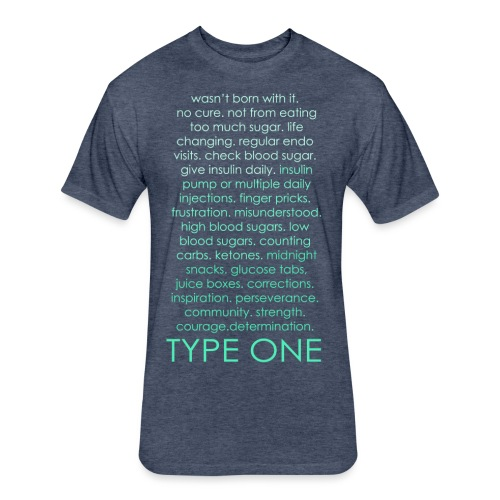 The Inspire Collection - Type One - Green - Fitted Cotton/Poly T-Shirt by Next Level
