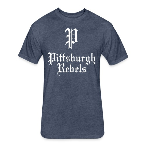 Pittsburgh Rebels - Fitted Cotton/Poly T-Shirt by Next Level