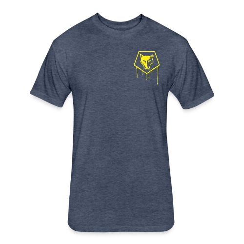 the drip crest - Fitted Cotton/Poly T-Shirt by Next Level