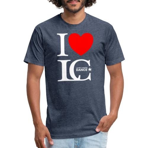 I Heart LCDance - Fitted Cotton/Poly T-Shirt by Next Level