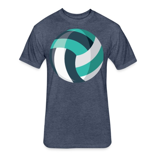 Volleyball - Fitted Cotton/Poly T-Shirt by Next Level