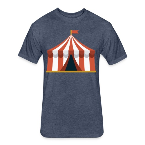 Striped Circus Tent - Fitted Cotton/Poly T-Shirt by Next Level