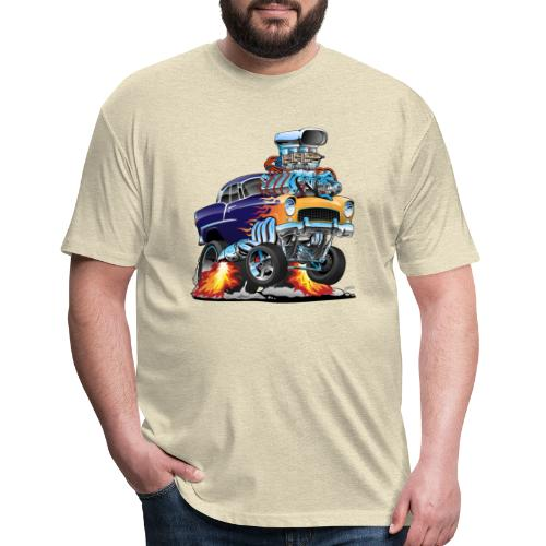 Classic Fifties Hot Rod Muscle Car Cartoon - Fitted Cotton/Poly T-Shirt by Next Level