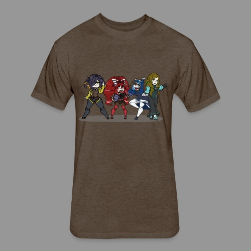 Chibi Autoscorers - Fitted Cotton/Poly T-Shirt by Next Level