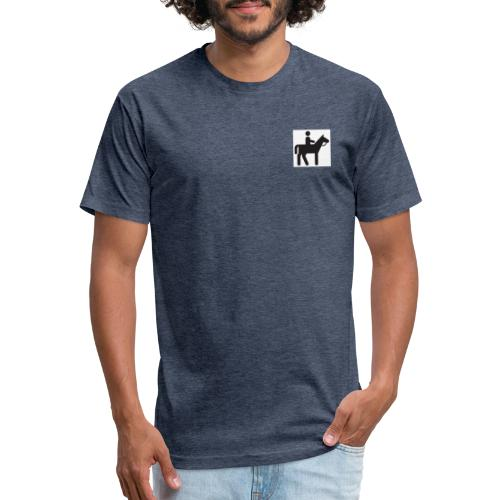 figure riding - Fitted Cotton/Poly T-Shirt by Next Level