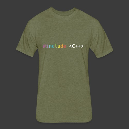 Rainbow Include C++ - Fitted Cotton/Poly T-Shirt by Next Level