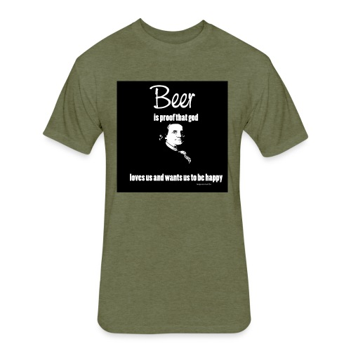 Beer T-shirt - Fitted Cotton/Poly T-Shirt by Next Level