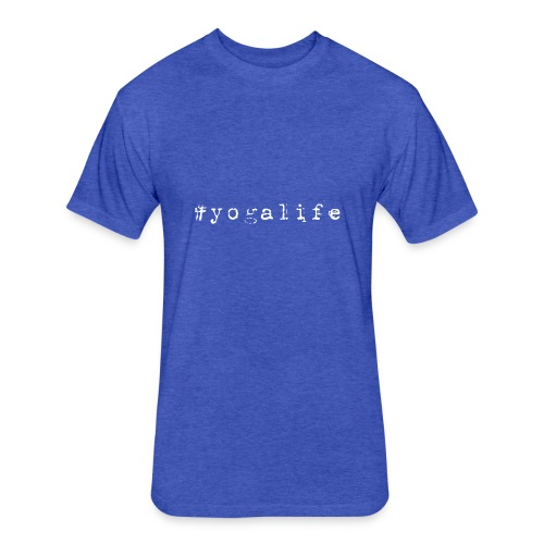 Yogalife Hastag Design - Fitted Cotton/Poly T-Shirt by Next Level