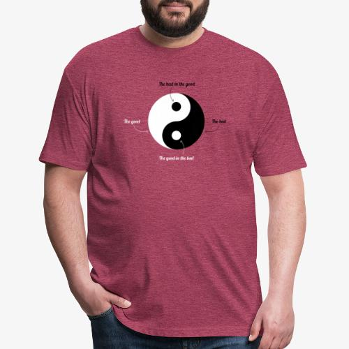 Ying-Yang - Fitted Cotton/Poly T-Shirt by Next Level