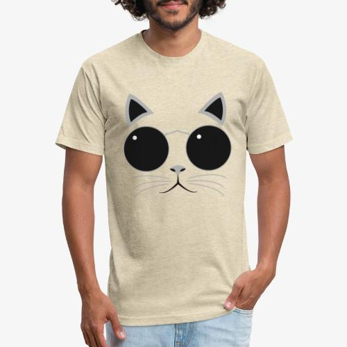 Hipster Cat T-Shirt - Fitted Cotton/Poly T-Shirt by Next Level