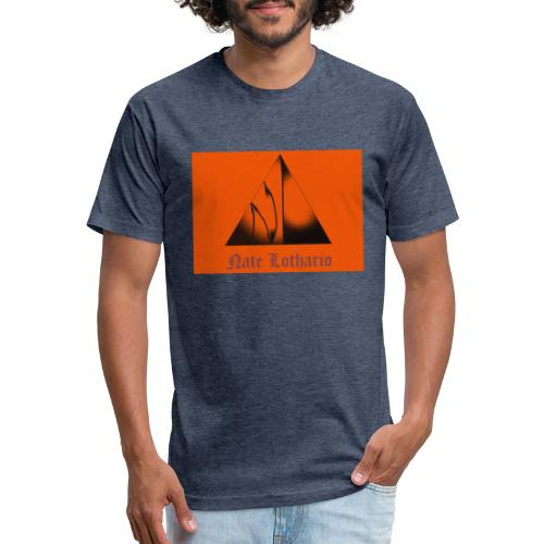 Orange Logo 2 - Fitted Cotton/Poly T-Shirt by Next Level