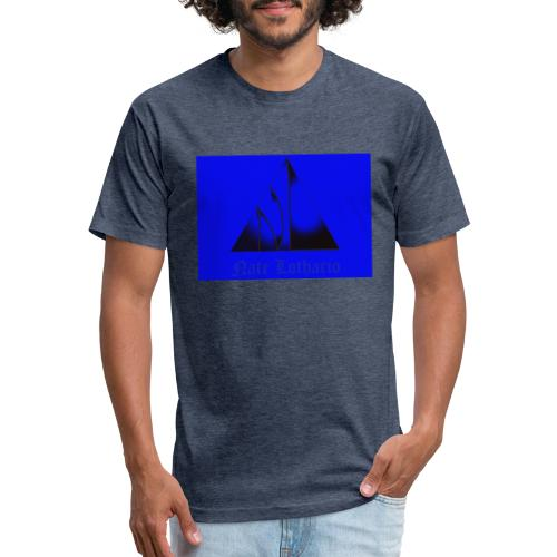 Blue Logo - Fitted Cotton/Poly T-Shirt by Next Level
