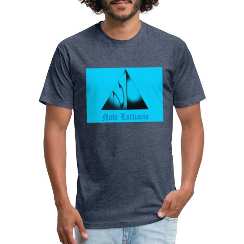 Aqua Blue Logo - Fitted Cotton/Poly T-Shirt by Next Level