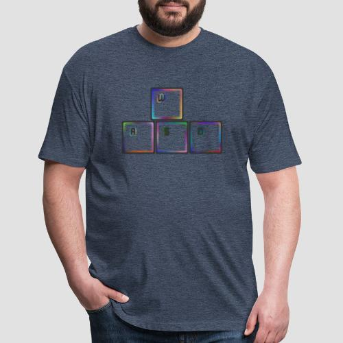 WASD - Fitted Cotton/Poly T-Shirt by Next Level