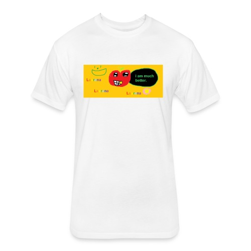 pechy vs apple - Fitted Cotton/Poly T-Shirt by Next Level