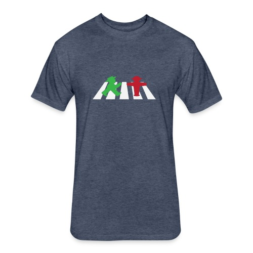 ampelmannchen on crosswalk - Fitted Cotton/Poly T-Shirt by Next Level