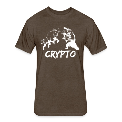 CryptoBattle White - Fitted Cotton/Poly T-Shirt by Next Level