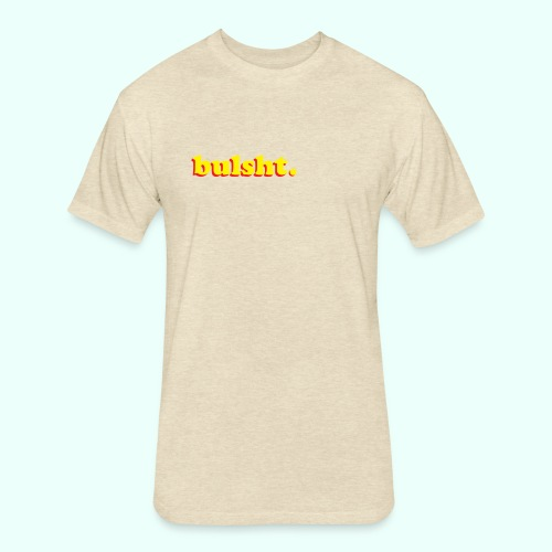 BulSht. Logo - Fitted Cotton/Poly T-Shirt by Next Level