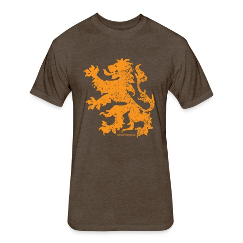 Dutch Lion - Fitted Cotton/Poly T-Shirt by Next Level