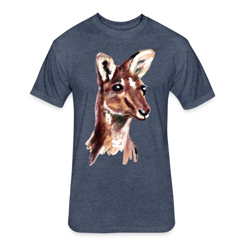 kangaroo face - Fitted Cotton/Poly T-Shirt by Next Level