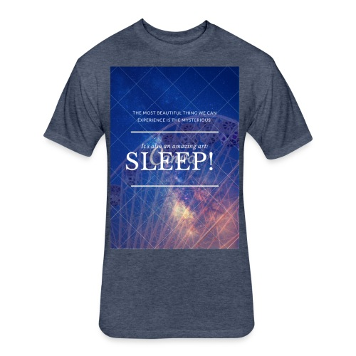 Sleep Galaxy by @lovesaccessories - Fitted Cotton/Poly T-Shirt by Next Level