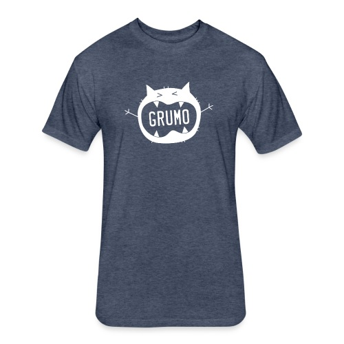 Grumo Growling (TEXT) - Fitted Cotton/Poly T-Shirt by Next Level
