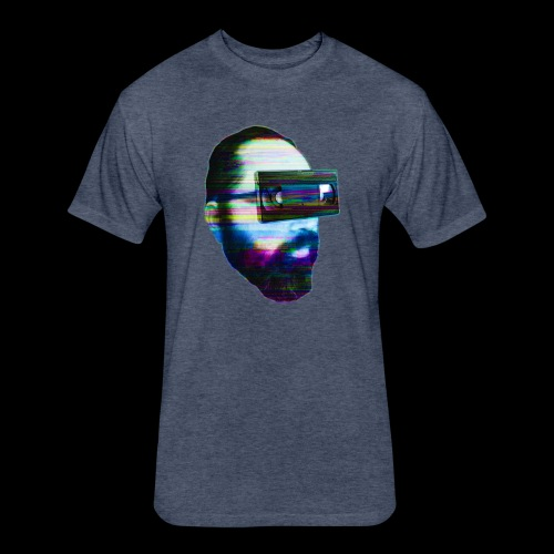 Spaceboy Music - Glitched - Fitted Cotton/Poly T-Shirt by Next Level