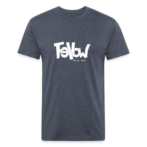 Design 02 Sur du noir - Fitted Cotton/Poly T-Shirt by Next Level
