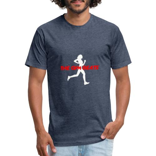 The GYM BEATS - Music for Sports - Fitted Cotton/Poly T-Shirt by Next Level