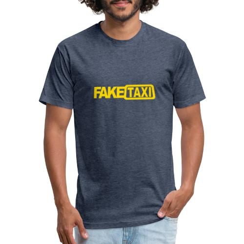 FAKE TAXI hoodie - Fitted Cotton/Poly T-Shirt by Next Level