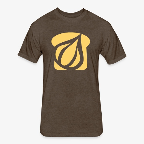 Garlic Toast - Fitted Cotton/Poly T-Shirt by Next Level