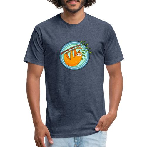 Slothicorn - Fitted Cotton/Poly T-Shirt by Next Level