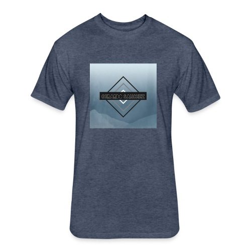 Rhombus Design - Fitted Cotton/Poly T-Shirt by Next Level