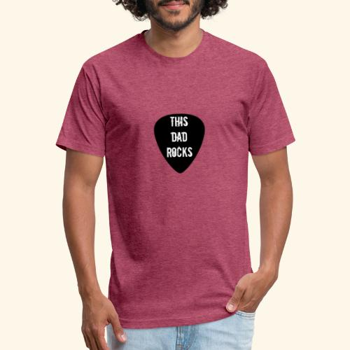 Shirt this dad rocks - Fitted Cotton/Poly T-Shirt by Next Level