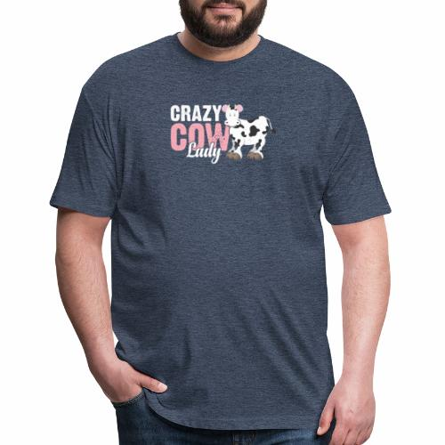 CRAZY COW LADY - Fitted Cotton/Poly T-Shirt by Next Level