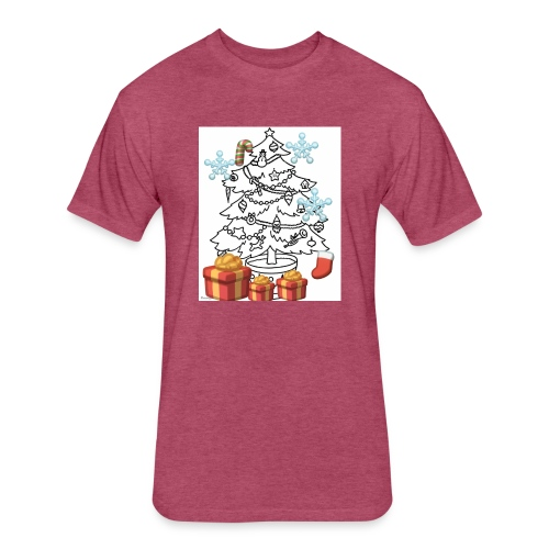 Christmas is here!! - Fitted Cotton/Poly T-Shirt by Next Level
