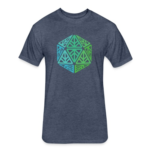 Green Leaf Geek Iconic Logo - Fitted Cotton/Poly T-Shirt by Next Level