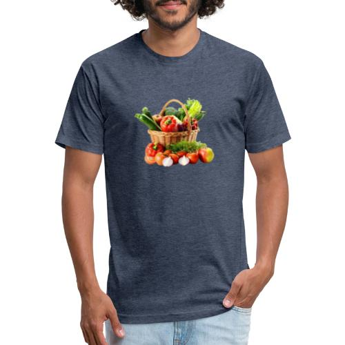 Vegetable transparent - Fitted Cotton/Poly T-Shirt by Next Level