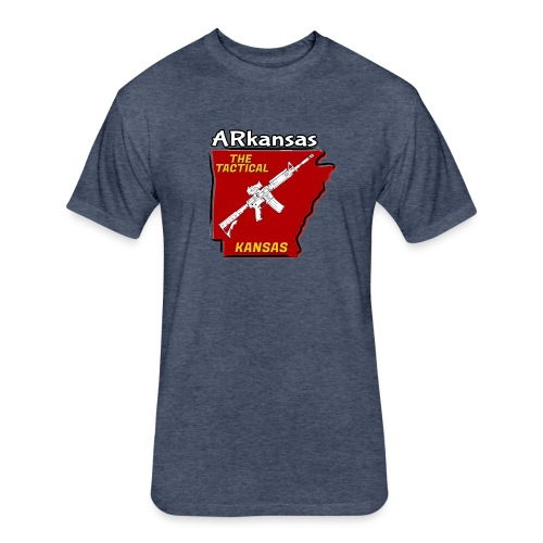 Tactical Kansas - Fitted Cotton/Poly T-Shirt by Next Level