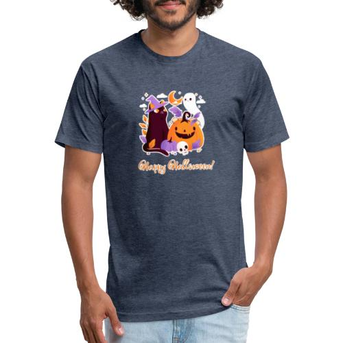 Halloween happy - Fitted Cotton/Poly T-Shirt by Next Level