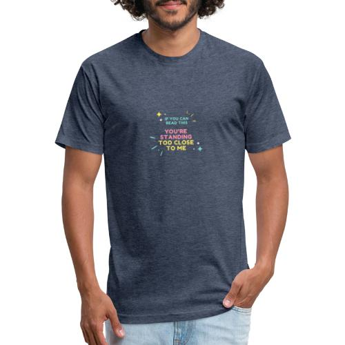 Fight Corona - Fitted Cotton/Poly T-Shirt by Next Level
