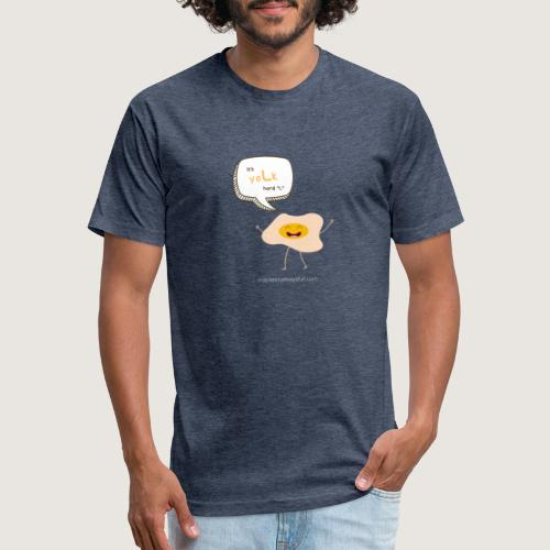 yoLk hard L - Fitted Cotton/Poly T-Shirt by Next Level