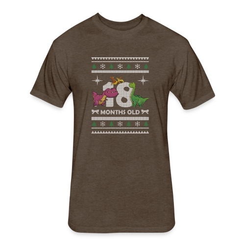 Christmas 18 months old - Fitted Cotton/Poly T-Shirt by Next Level