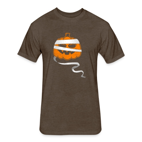 Halloween Bandaged Pumpkin - Fitted Cotton/Poly T-Shirt by Next Level